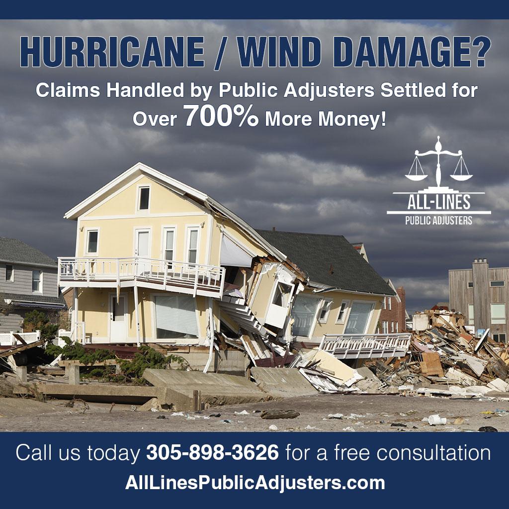 Miami Public Adjusters - Serving Miami Insurance Claims - Hurricane & Wind Damage